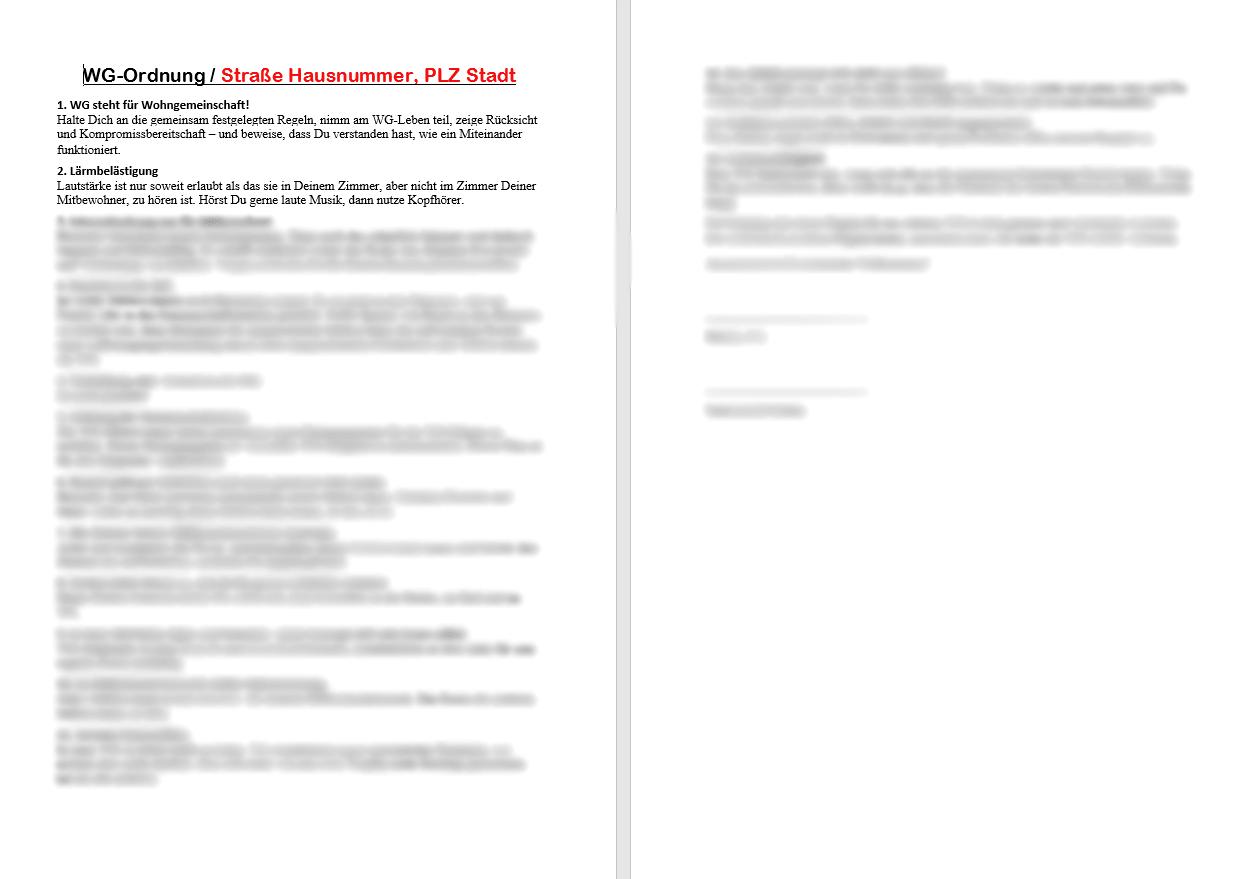 Dokument WG Ordnung